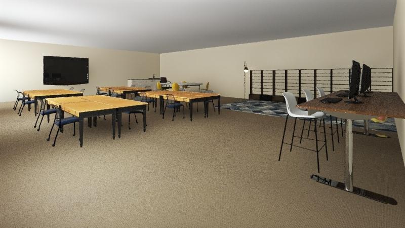 Classroom #1 Interior Design Render