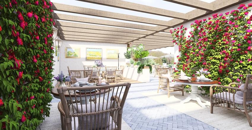 "Кафе в стиле прованс ""Лаванда"" Interior Design Render"