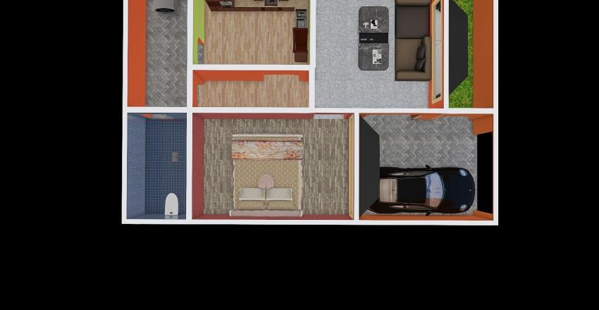 700 Sq.Ft. house Interior Design Render