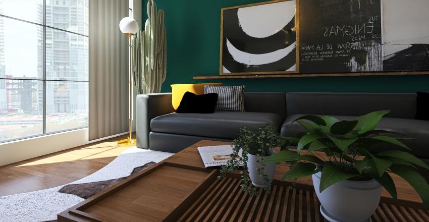 Bohemian livingroom Interior Design Render