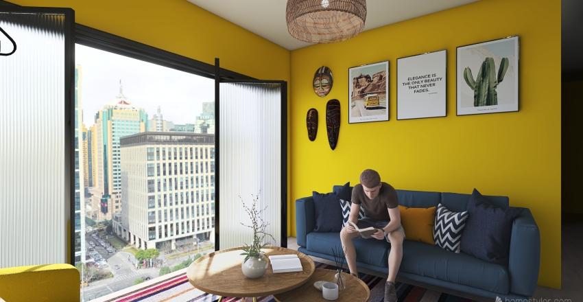 propuesta 1 sala Interior Design Render