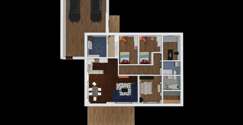 TV-60cm+garage Interior Design Render