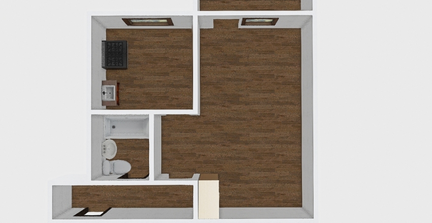 1-комн_018_25 Interior Design Render