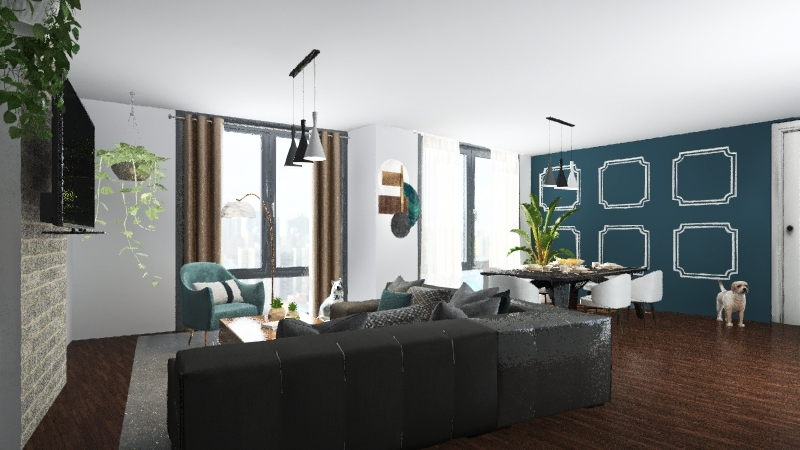 Lily's Living Room Interior Design Render