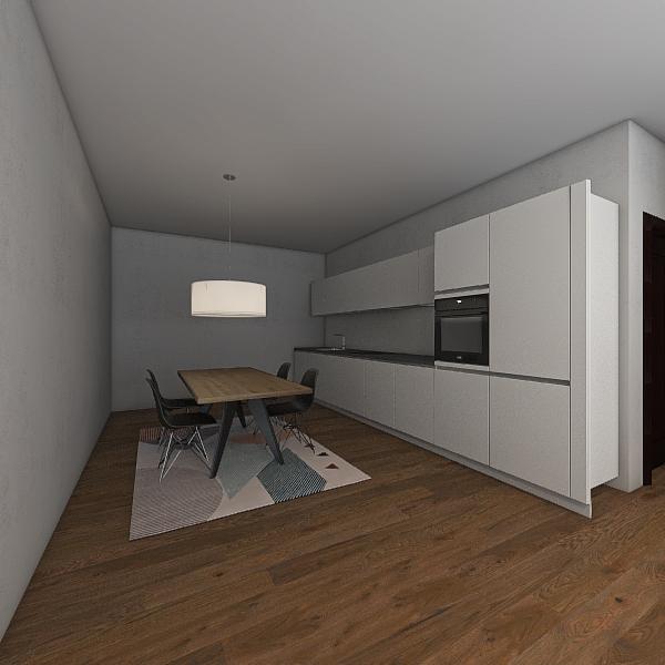 Light Apartment Interior Design Render
