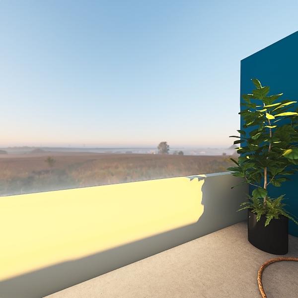 master on sweet phantom blue color chalange Interior Design Render