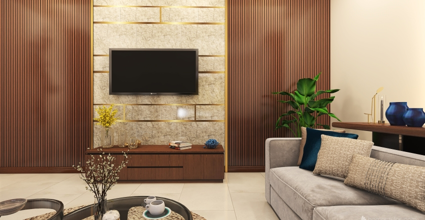 family hall design another Interior Design Render
