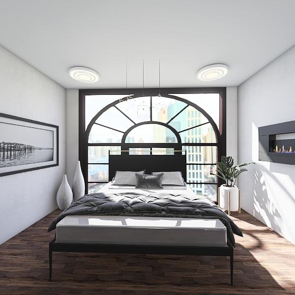 modern city bedroom Interior Design Render