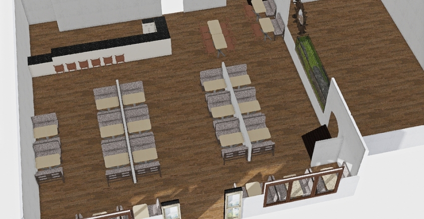 The Red Thread Kitchen Dining Plan 2 Interior Design Render