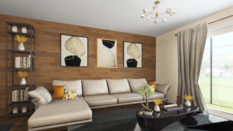 rustic - wood Interior Design Render