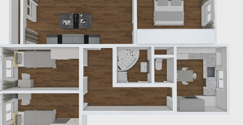 4IZB STARA TURA Interior Design Render