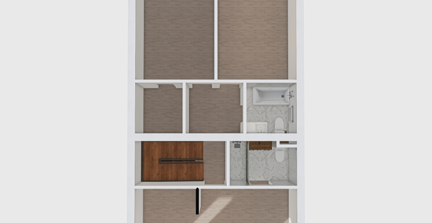 dz 2 2nd floor white floor Interior Design Render
