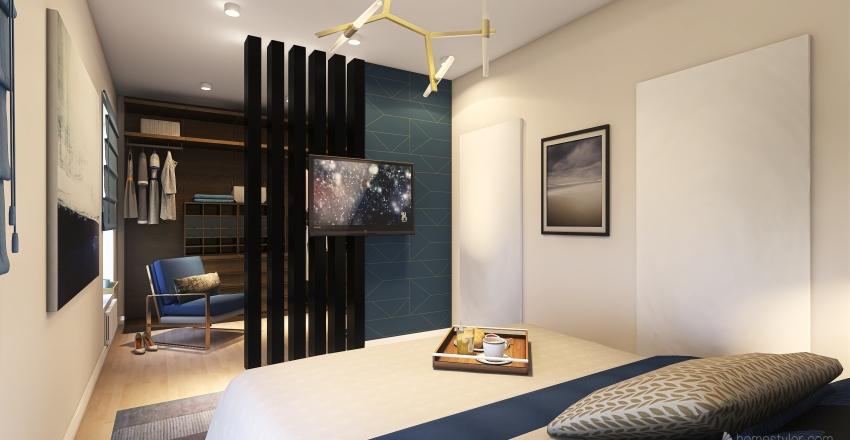 dz 2 2nd floor white floor Interior Design Render