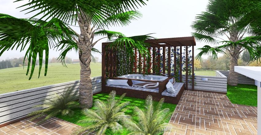 casa dislivello Interior Design Render