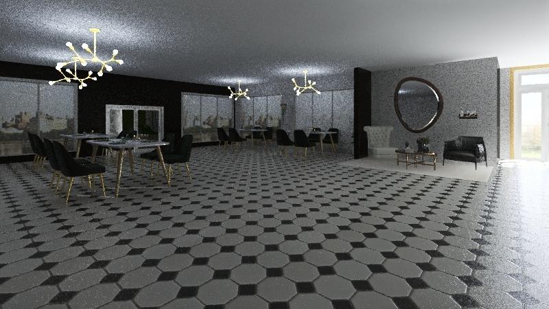 Restaurantee Interior Design Render
