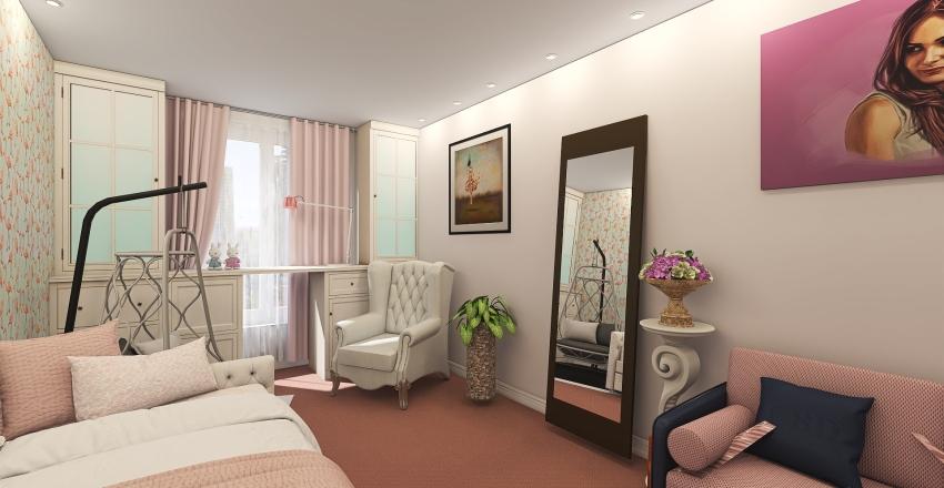 Киев квартира для друзей Interior Design Render