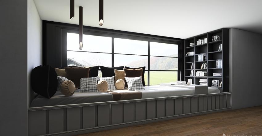 pokoj kwarantanna Interior Design Render