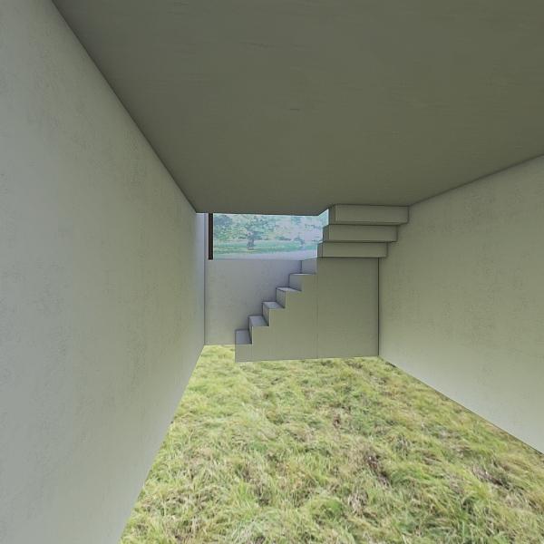 Trávník patro Interior Design Render