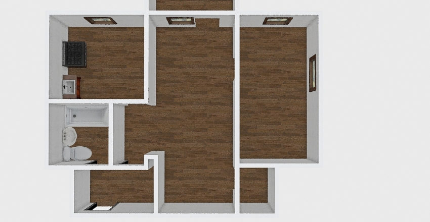 3-комн_001_61 Interior Design Render
