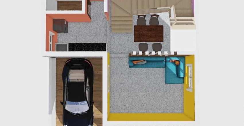 Loft Home Interior Design Render