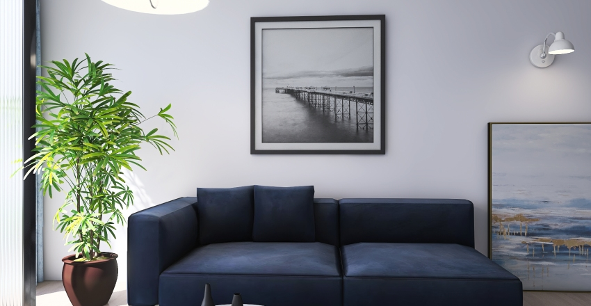 living 3 Interior Design Render