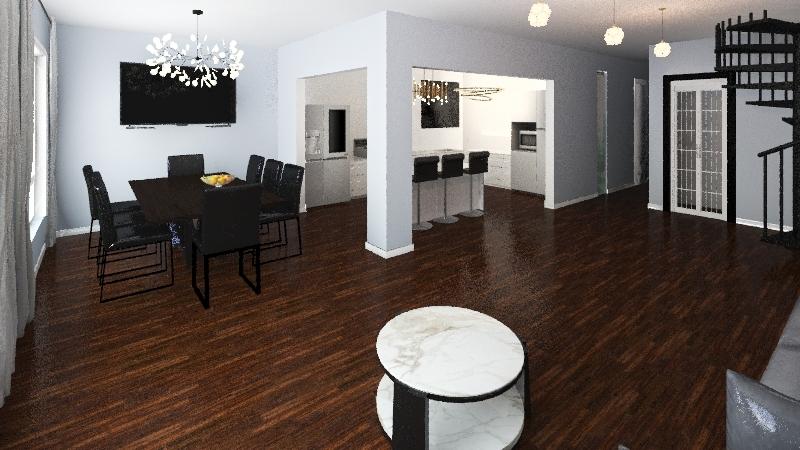Renovated Home Interior Design Render