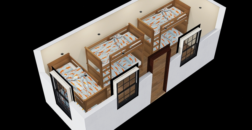 20ft lab accomoda Interior Design Render