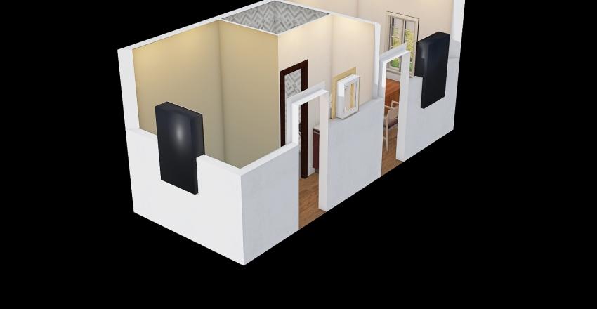 20ft manager unit  Interior Design Render