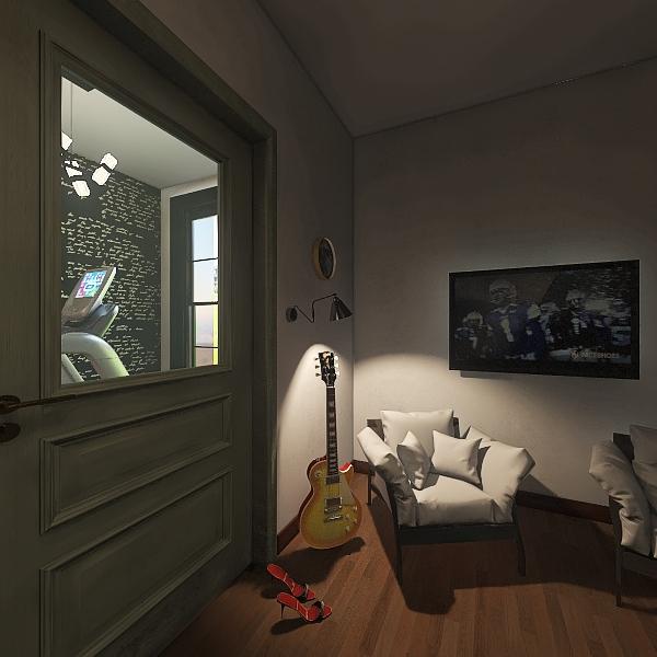 гостиная с гитарой 2 Interior Design Render