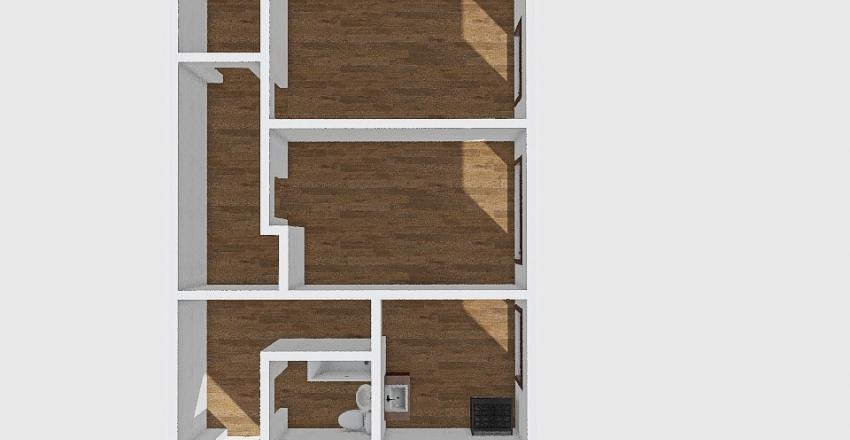2-комн_001_63 Interior Design Render
