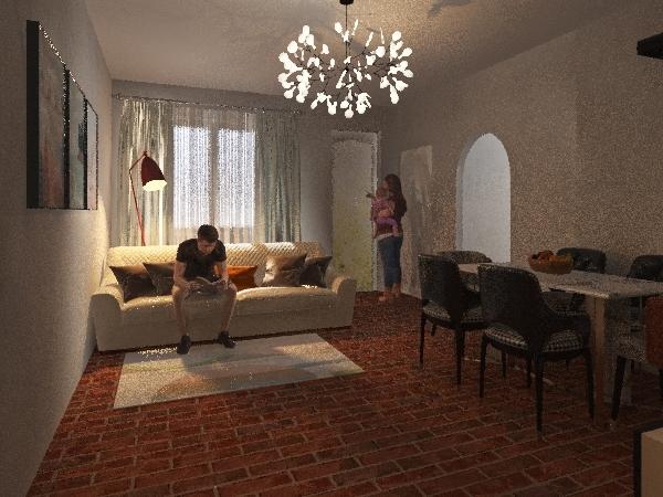 IMOLA LIVANI Interior Design Render