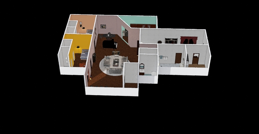 3 bedroom 4 bath Interior Design Render