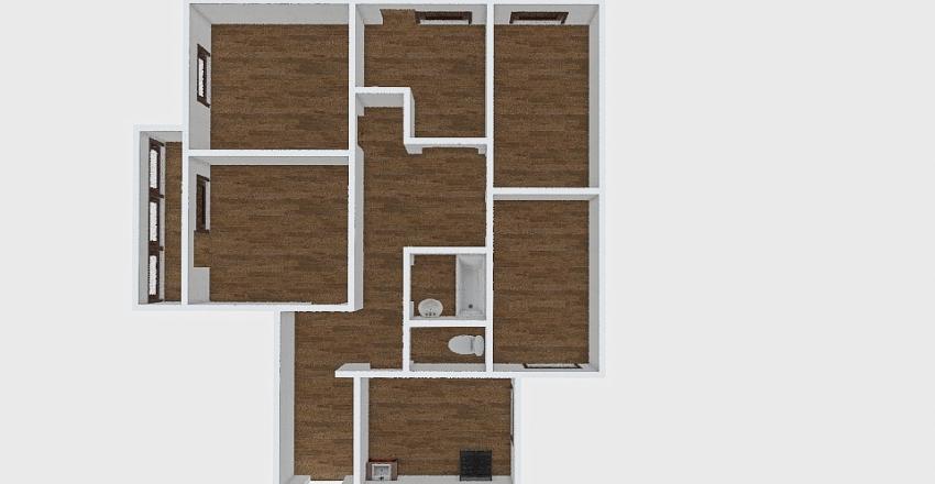 4-комн_074 Interior Design Render