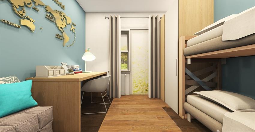 Appartamento attico Via S. Francesco Interior Design Render
