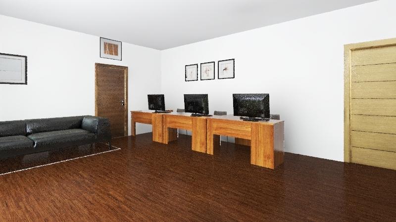 salle d'attende  Interior Design Render