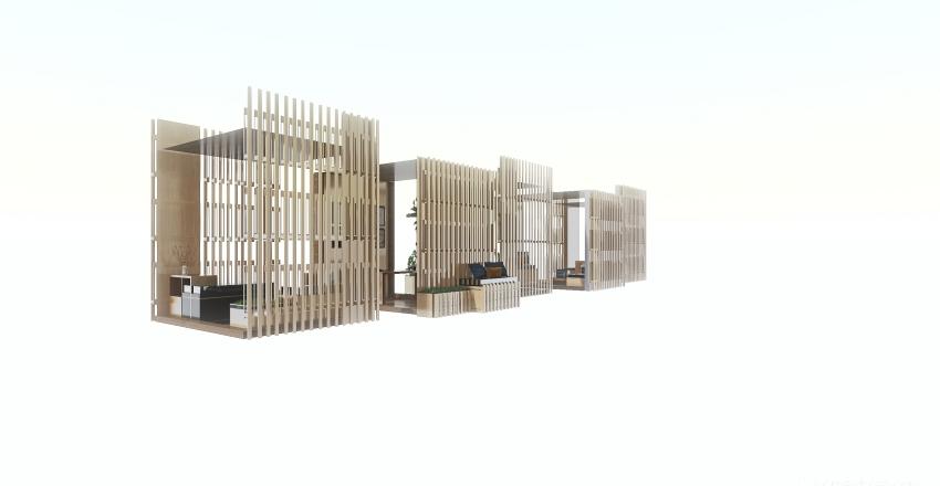 pop up office Interior Design Render