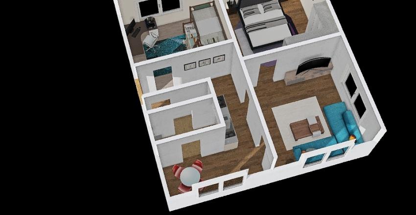 3+1 Křimická Plzeň Interior Design Render