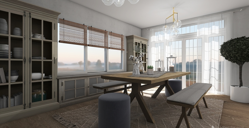 #HSDA2020Residential - Rustic/Farm House Interior Design Render