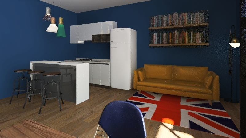 Extra room and Cozy Film Post Production Interior Design Render
