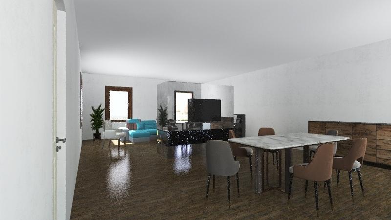 Pianta Soggiorno Interior Design Render
