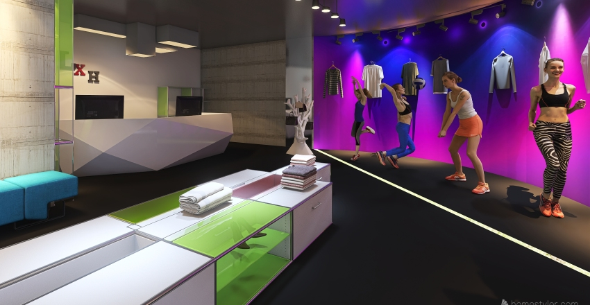 Sportswear Store               #HSDA2020Commercial Interior Design Render