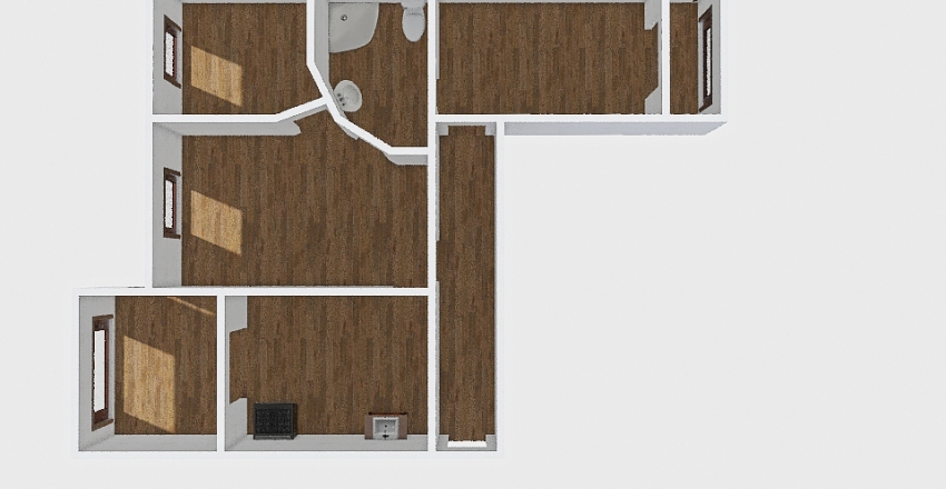 3-комн_0380 Interior Design Render