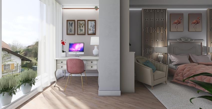 Учебный _квартира_ нео классика Interior Design Render