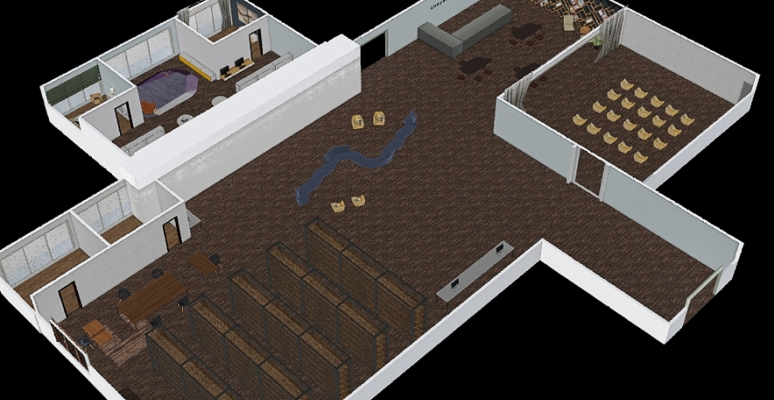 Coupeville Library Revision Interior Design Render