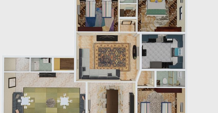 شقة 2 ارضي 1851 Interior Design Render