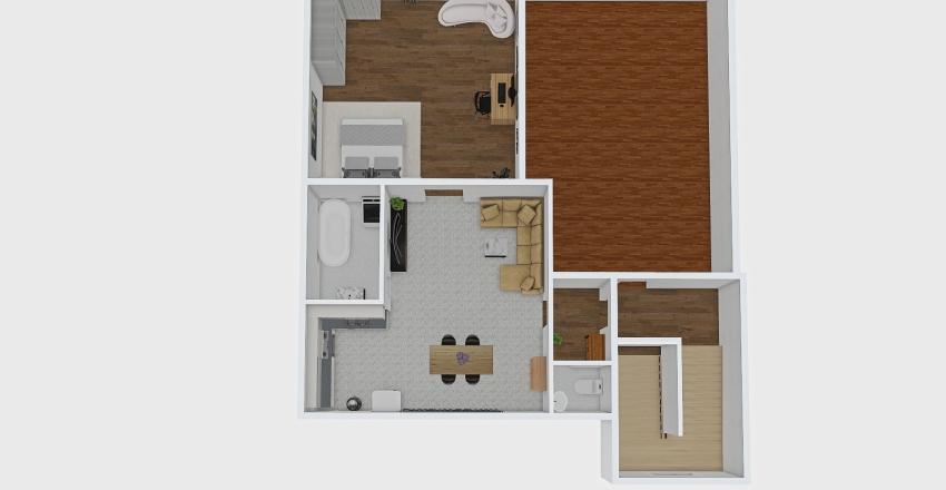 Ruská 95 2+kk Interior Design Render