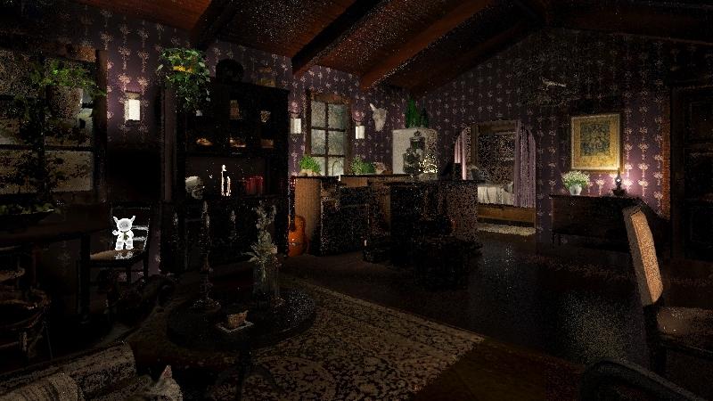 Witch Cottage Interior Design Render