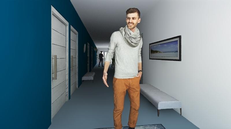korytarz Interior Design Render