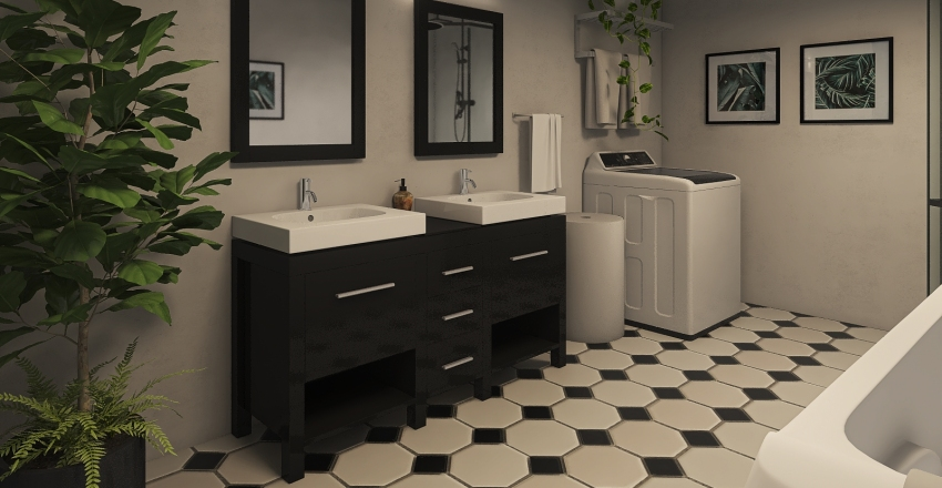 Studio apartment 83.32 ㎡  Interior Design Render