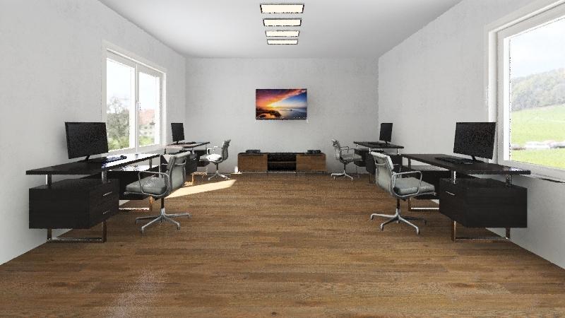 Game dev office design Interior Design Render